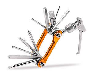 Мультитул (набор шестигранников и выжим цепи) BikeHand GA-50 Оранжевый