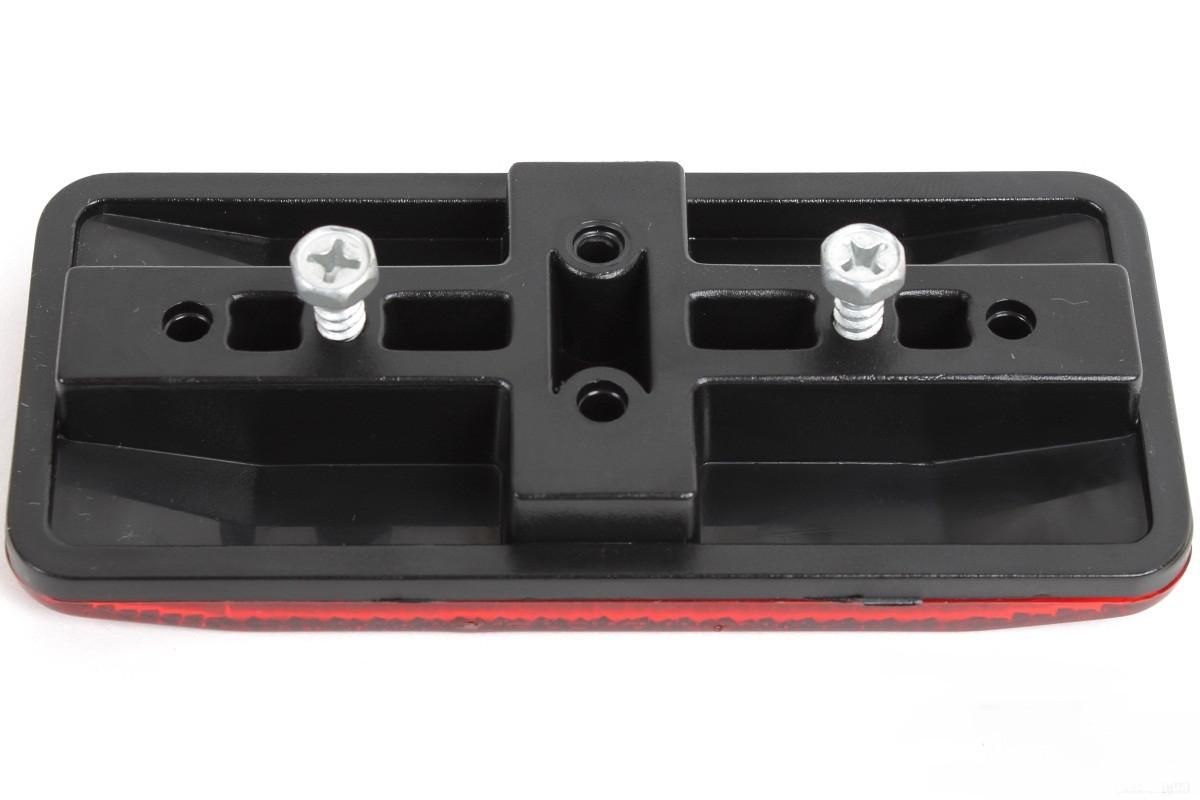 Відбивач задній на багажник великий, 11.5*5.0 см, червоний