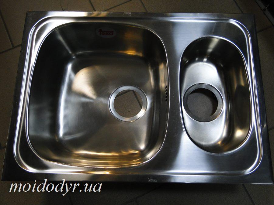 Мойка кухонная врезная Teka Duracer 1 1/2 С.Rew из нержавеющей стали (440 мм x 620 мм х 180 мм)