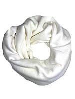 Снуд хомут женский теплый зимний  шерстяной шарф белый, фото 1