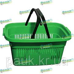 Корзина для покупок 22 л, корзина для товаров пластиковая