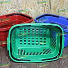 Корзина для покупок 22 л, корзина для товаров пластиковая, фото 7