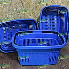 Корзина для покупок 22 л, корзина для товаров пластиковая, фото 10