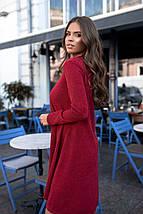 """Асимметричное ангоровое платье свободного кроя """"SANDRA"""" с длинным рукавом, фото 3"""