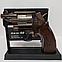 Зажигалка пистолет револьвер M10 HW на подставке, фото 2