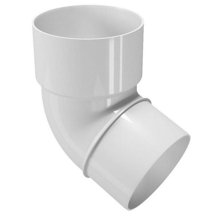 Колено трубы 67,5° 80 мм DEVOREX RAINPIPE белый
