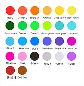Гобо-слайды для гобо проекторов от 1 до 7 цветов