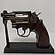 Зажигалка пистолет револьвер M10 HW на подставке, фото 10