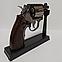 Зажигалка пистолет револьвер M10 HW на подставке, фото 8