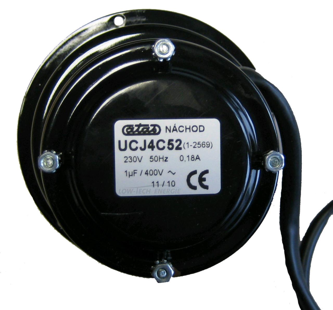 Вытяжной вентилятор, мотор с турбиной диаметром 175 закрытый - (DC50SE, DC50S, DC50GSX, DC60GSX, DC50GSE, C40S, C50S)