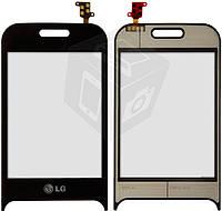 Touchscreen (сенсорный экран) для LG T320, черный, оригинал