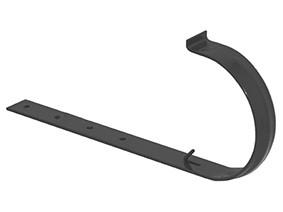 Хомут жолоба 160 з прямим кріпленням, оцинков. 250 графітний (3186043400)