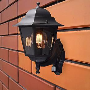 Світильник бра пластик прозоре скло Кантрі НС 04 чорний, фото 2