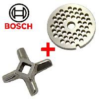 Комплект решетка и нож для мясорубки Bosch