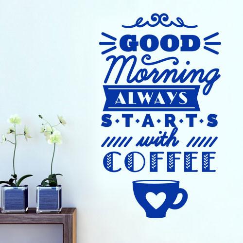 Наклейка на стіну Good morning