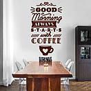 Наклейка на стіну Good morning, фото 2