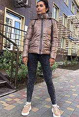 Куртка демисезонная NOBILITAS 42 - 48 бежевый плащевка (арт. 20041)