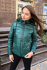 Куртка демисезонная NOBILITAS 42 - 48 зеленая плащевка (арт. 20041)