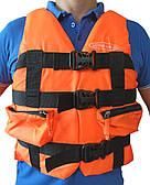 Жилет страховочный SailFish 70-90кг (оранжевый с карманами)