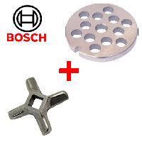 Комплект решетка и нож для мясорубки Bosch Нож, Bosch, 8 мм