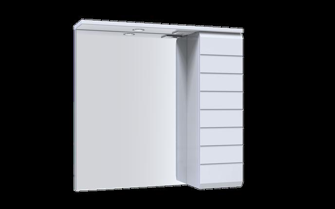 LINE Зеркало 70 (Белое), со шкафчиком и подсветкой, фото 2