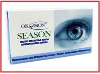 Контактные линзы/Лінзи контактні Season на 3 месяца (квартальные), OkVision, (2шт)
