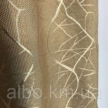 Сонцезахисні штори з льону Блекаут ALBO 150x270 cm (2 шт) Кавові (SH-M17-20)