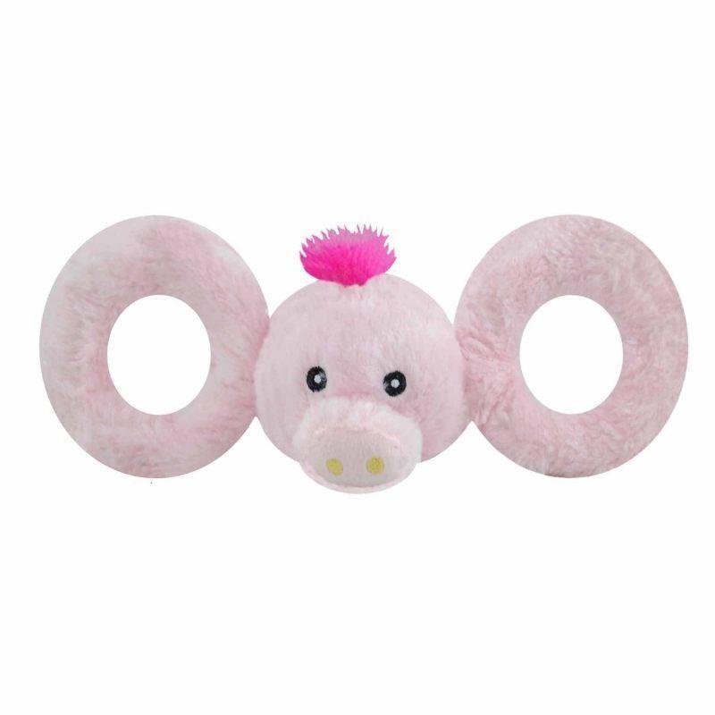 Jolly Pets TUG-A-MAL Pig Dog Toy - Игрушка-пищалка 10х30х11 см