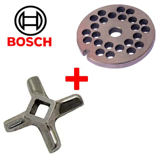 решетка 6 мм и нож для мясорубки Bosch