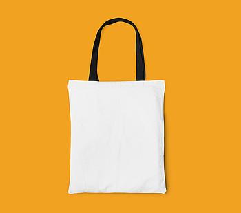 Пляжная сумка/Промо сумка (габардин) для сублимации с черной ручкой
