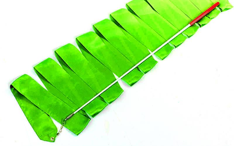Стрічка для художньої гімнастики з паличкою 4м Lingo C-7152 (Салатовий)
