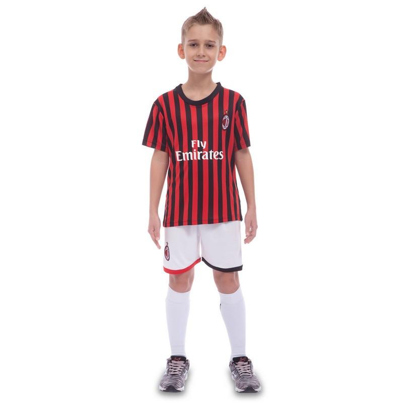 Форма футбольна дитяча AC MILAN домашня 2020 CO-0977 24, на 10 років, зріст 130 - 135