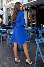"""Приталенное короткое платье-рубашка """"Alberta"""" с расклешенной юбкой, фото 2"""