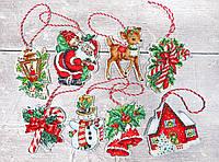 Набор для вышивания нитками LETISTITCH Набор новогодних игрушек №1 (LETI 966)