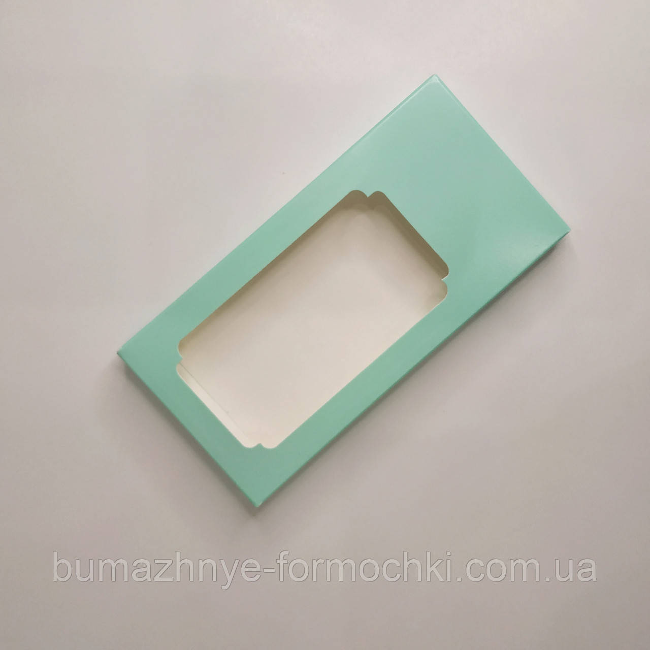 Коробка для шоколада, цвет тиффани, 155х75х11 мм