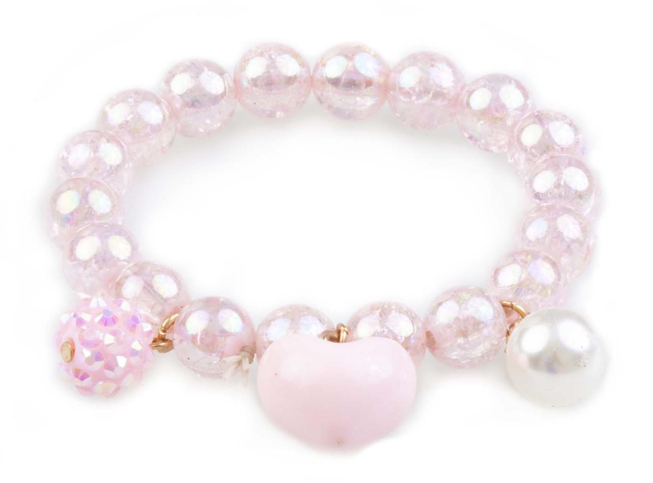 Браслет Great Pretenders розовое сердечко pink heart bobble (84083)