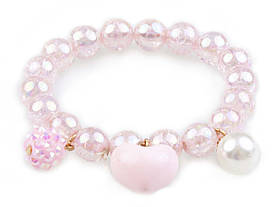 Браслет Great Pretenders рожеве сердечко pink heart bobble (84083)