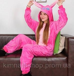 Пижама Кигуруми Стич розовый (M) -кігурумі стіч рожевий