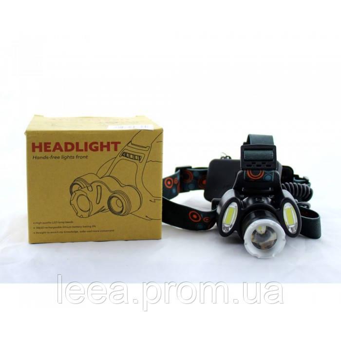 Налобный фонарь BL POLICE С865 3 диода T6 фонарик 1480 Lumen