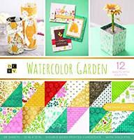 Набір двостороннього паперу - DCWV - Watercolor Garden - 30х30 ЦІНА ЗА ПІВ НАБОРУ!