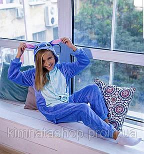 Пижама Кигуруми Стич S кігурумі стіч блакитний