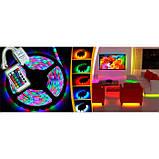 Лента светодиодная RGB 5050 - полный комплект влагозащищена 5 метров, фото 3