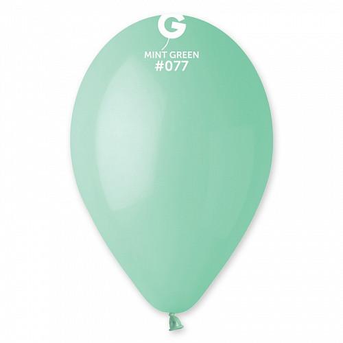 """Латексна кулька пастель зелений М'ятний 12"""" / 77 / 30см Mint green"""