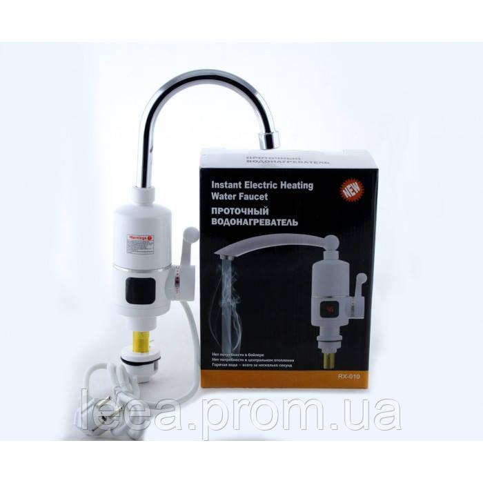 Вертикальний водонагрівач проточний на кран з LCD дисплеєм Delimano RX-005 3000 Вт