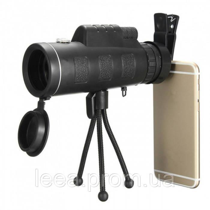 Монокуляр PANDA 40х60 с креплением для телефона и треногой Реплика
