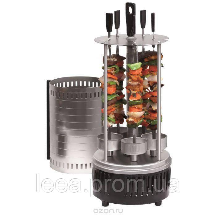 Электрошашлычница шашлычница Wimpex WX-8601 BBQ на 6 шампуров 1000W