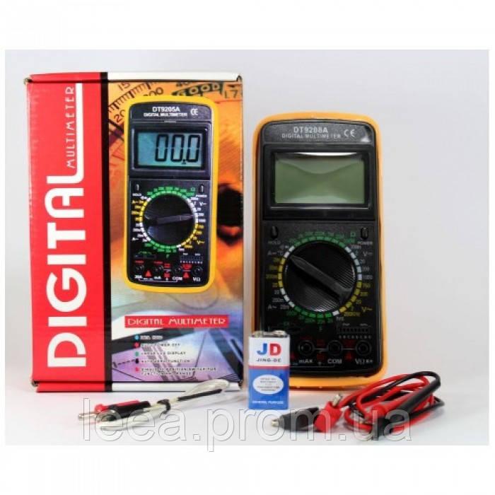 Цифровой профессиональный тестер мультиметр DT-9208A