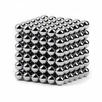 Неокуб Neocube 216 кульок 5мм в металевому боксі сріблястий
