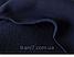 Женские спортивные штанишки на ассиметричном манжете трехнитка с начесом цвет синий, фото 3