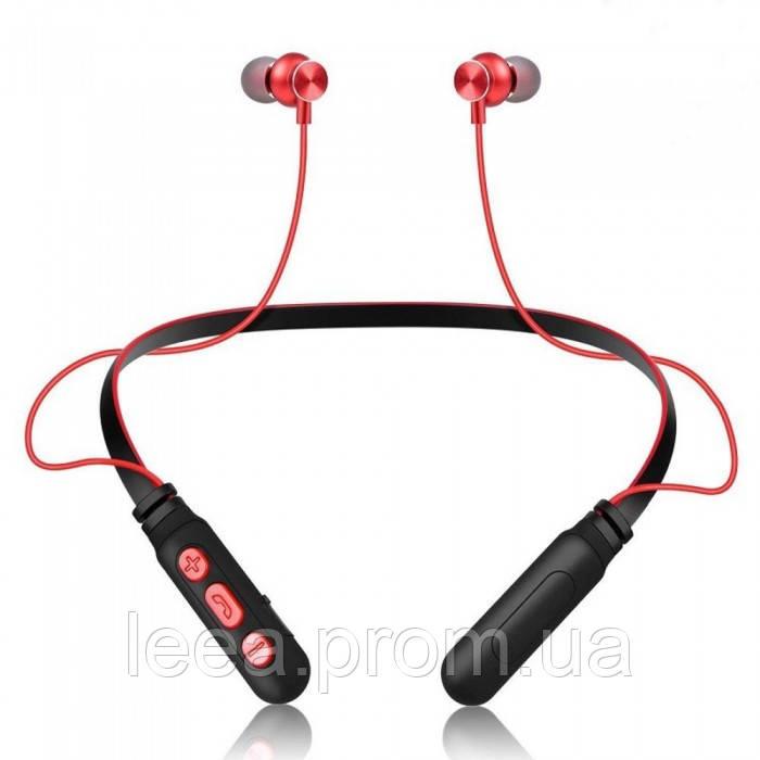 Беспроводные дуговые Вluetooth наушники Sport M8 Красные